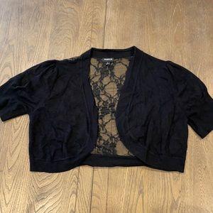Torrid Size 1 Shrug Cropped Cardigan Lace Back